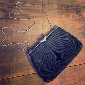 Vintage Evening Bag with Rhinestone Clasp